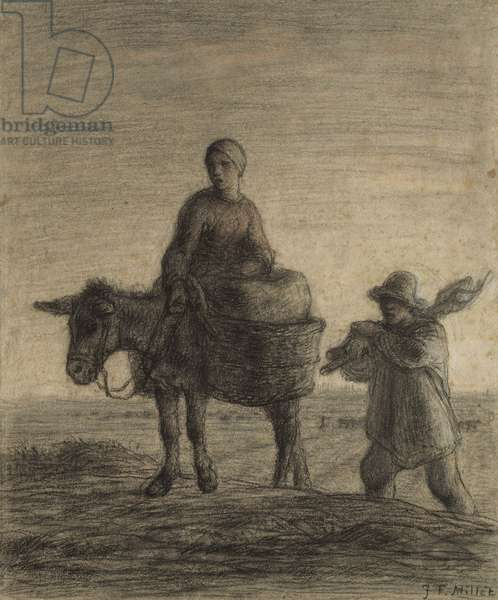 The Departure for Work, 1857 (charcoal, conté crayon & pastel on paper)