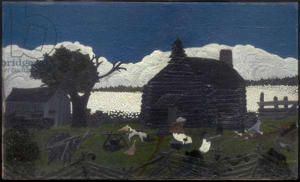 Cabin in the Cotton, 1933-37 (oil on cotton mounted on masonite)