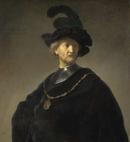 Old Man with a Gold Chain, 1631 (oil on panel)