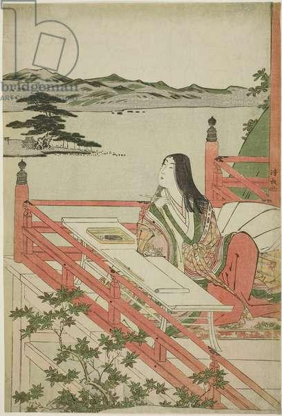 Murasaki Shikibu, 1779–1789 (color woodblock print; oban)