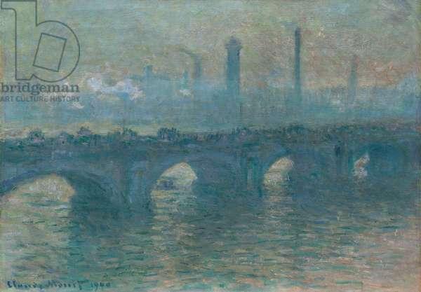 Waterloo Bridge, Gray Weather, 1900 (oil on canvas)