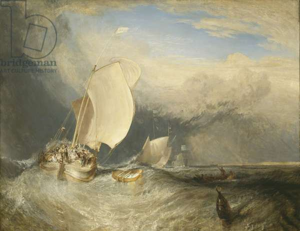 Fishing Boats with Hucksters Bargaining for Fish, 1837-38 (oil on canvas)