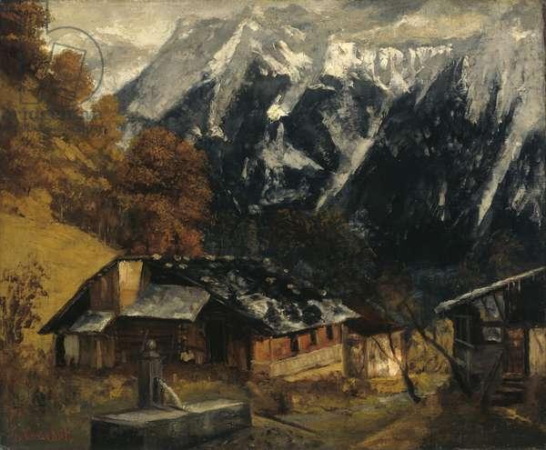 An Alpine Scene, 1874  (oil on canvas)