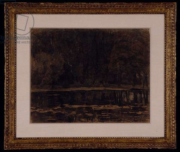 Geinrust Farm: Close Frontal View, c.1905-1906 (pastel and charcoal on buff wove paper)