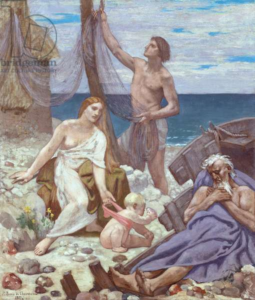 The Fisherman's Family, 1887 (oil on canvas)