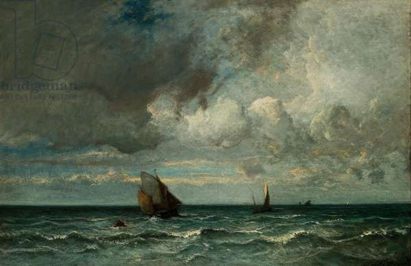 Barks Fleeing Before the Storm, 1870–75 (oil on canvas)