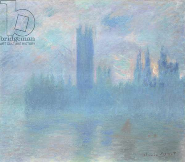 Houses of Parliament, London, 1900-01 (oil on canvas)
