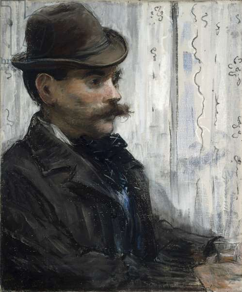 Portrait of Alphonse Maureau, c.1880 (pastel & gouache on canvas)