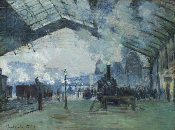Arrival of the Normandy Train, Gare Saint-Lazare, 1877 (oil on canvas)