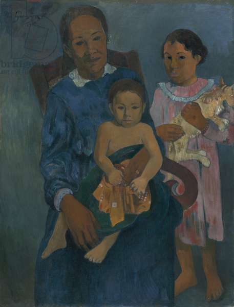 Polynesian Woman with Children, 1901 (oil on canvas)