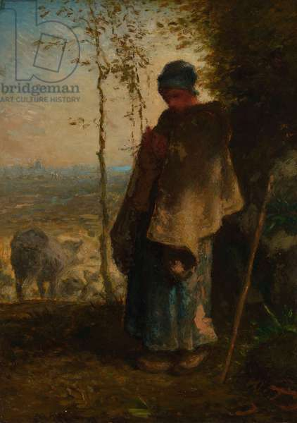 The Little Shepherdess, 1868–72 (oil on panel)