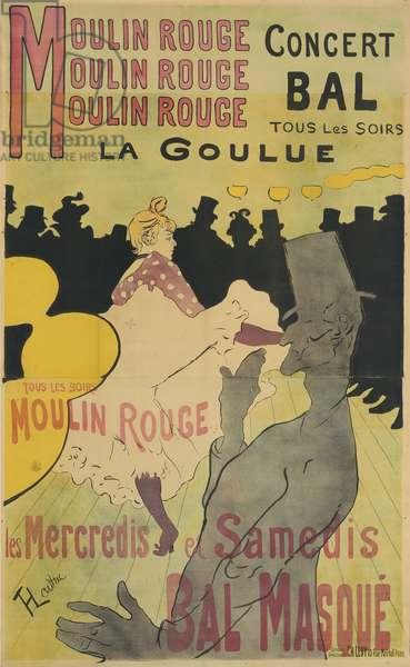 Moulin Rouge, La Goulue, 1891 (colour litho on tan wove paper)