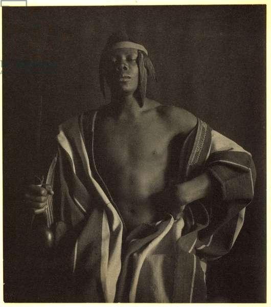 An Ethiopian Chief, 1897, printed c.1902 (platinum print)