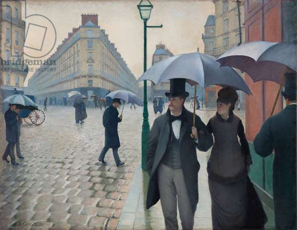 Paris Street, Rainy Day, 1877 (oil on canvas)