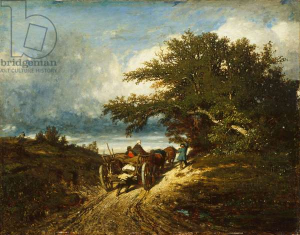On the Road, 1856 (oil on canvas)