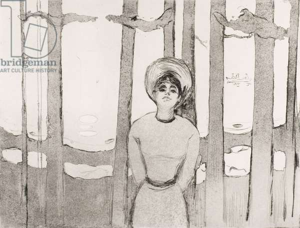 Summer Night, The Voice, 1894 (open bite etching & drypoint in black ink on heavyweight ivory wove plate paper)