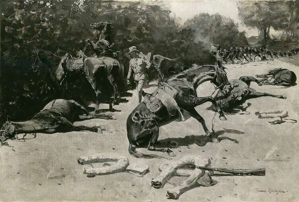 How the Horses Died for Their Country at Santiago, 1899 (oil on canvas)