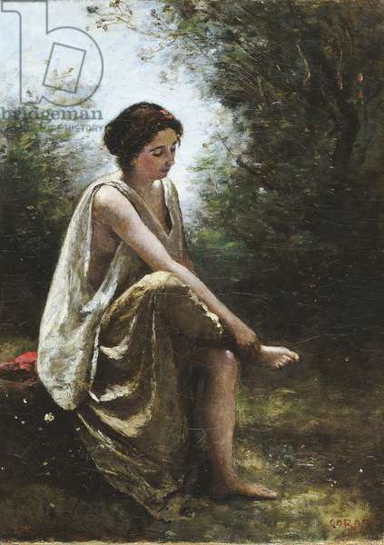 Wounded Eurydice, 1868–70 (oil on canvas)