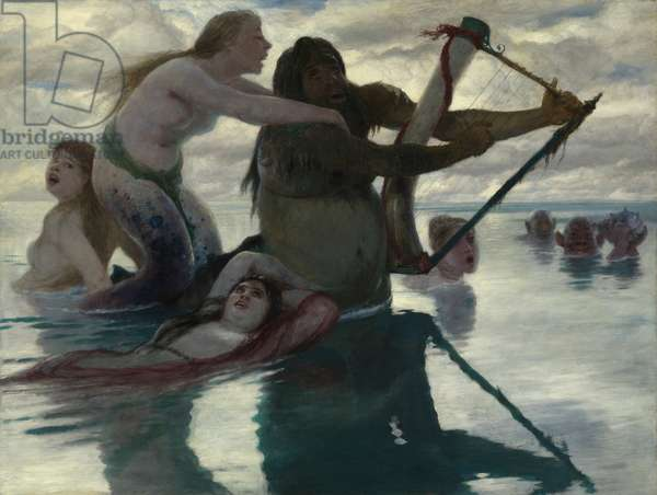 In the Sea, 1883 (oil on panel)