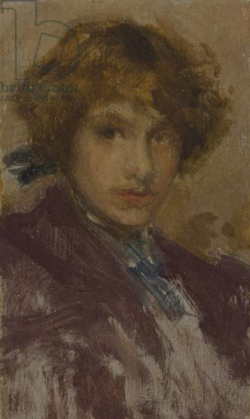 Study of a Young Girl's Head and Shoulders (Baroness de Meyer), 1896-97 (oil on panel)
