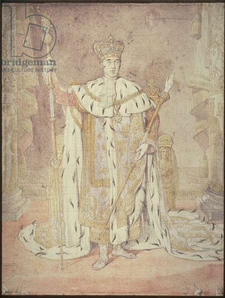 Charles X in his Coronation Robes, c 1828