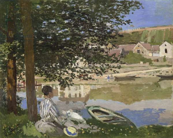 On the Bank of the Seine, Bennecourt, 1868 (oil on canvas)