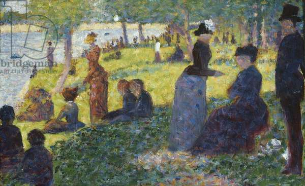 Oil Sketch for La Grande Jatte, 1884 (oil on panel)