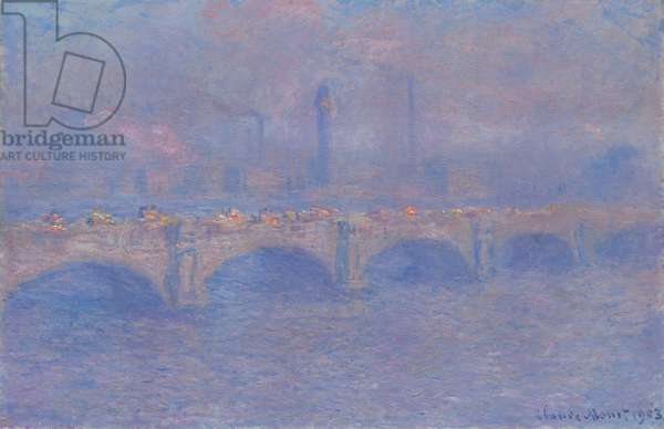 Waterloo Bridge, Sunlight Effect, 1903 (oil on canvas)