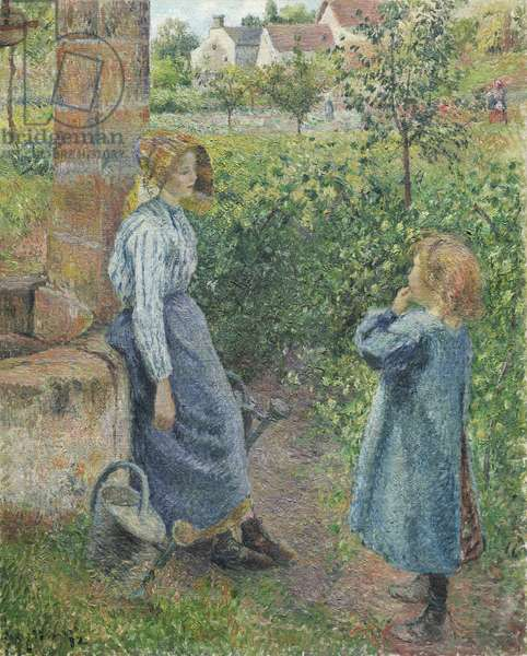 Woman and Child at the Well, 1882 (oil on canvas)