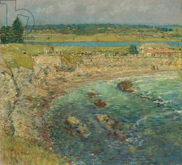 Bailey's Beach, Newport, R.I., 1901 (oil on canvas)