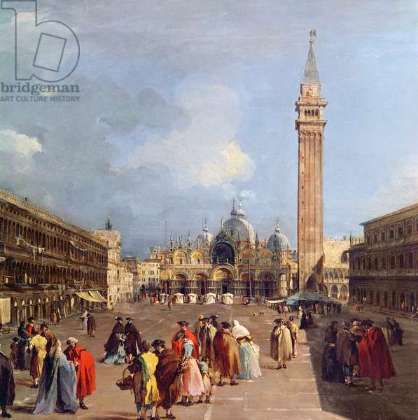 Piazza San Marco, Venice, c.1760 (oil on canvas) (detail)