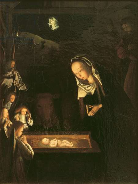 The Nativity at Night (oil on panel)