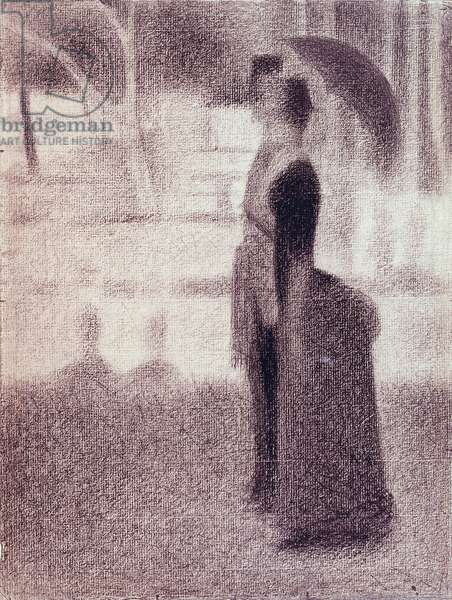 Study for Sunday Afternoon on the Island of La Grande Jatte, c.1884 (conte crayon on paper)