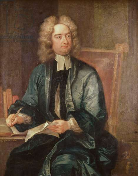 Portrait of Jonathan Swift (1667-1745) c.1718 (oil on canvas)