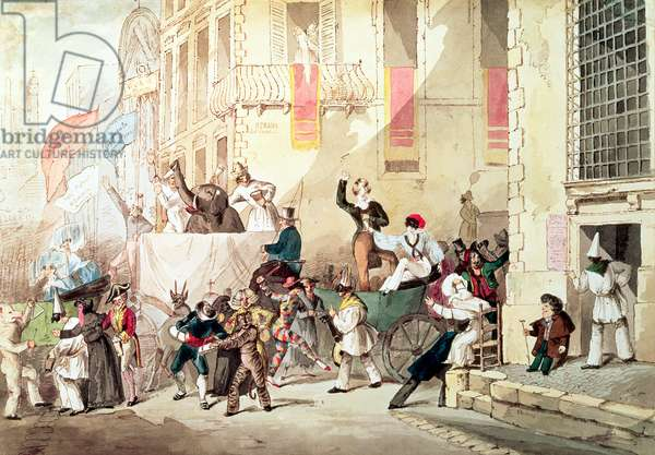 Circus Procession in Italy, 1830 (w/c)