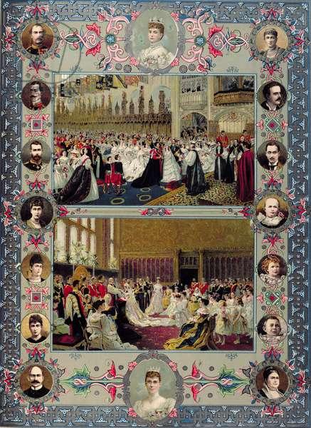 British Royal Wedding Memorabilia, 1897 (colour litho)
