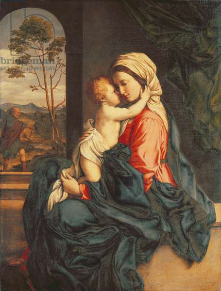 The Virgin and Child Embracing (oil on canvas) c.1660-85