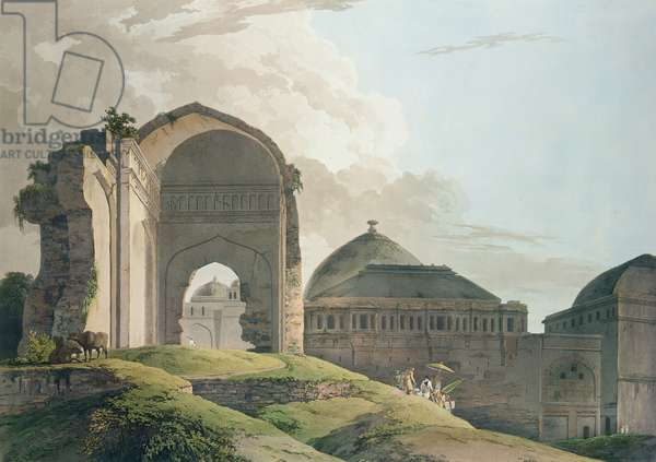 The Ruins of the Palace at Madurai, 1798 (colour litho)