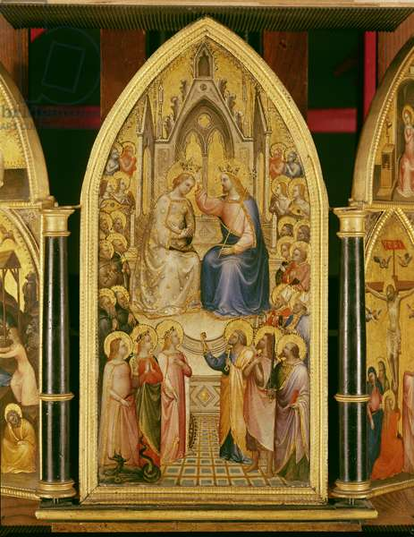 The Coronation of the Virgin, and Other Scenes, 1367 (egg tempera on poplar)
