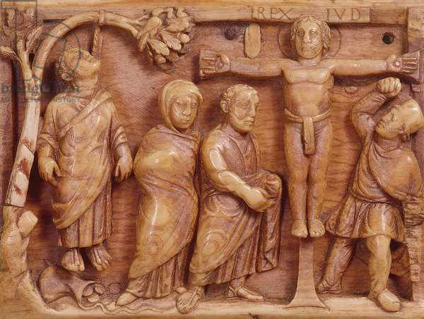 Crucifixion, carving, c.400-20 AD (ivory)