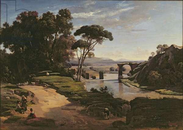 The Bridge at Narni, c.1826-27 (oil on canvas)
