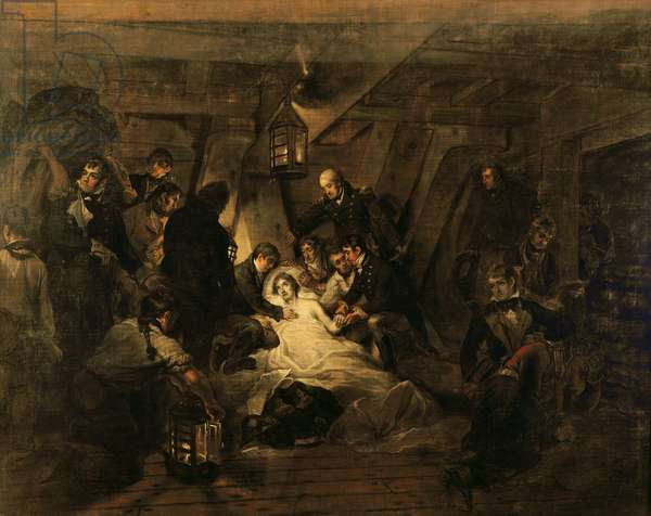 The Death of Nelson, 21st October 1805, 1807 (oil on canvas)