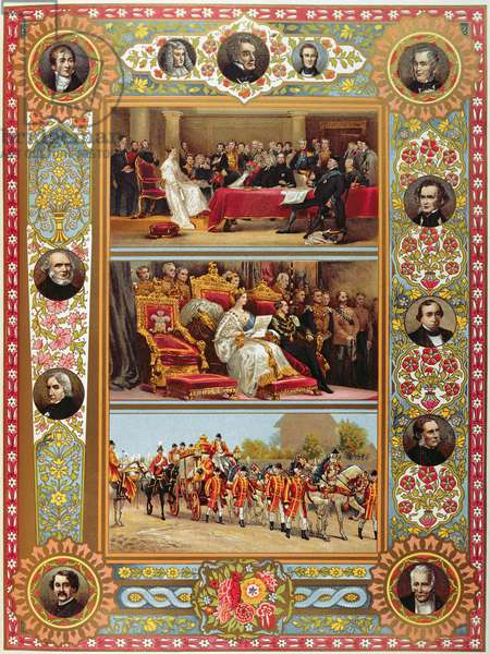 The Life of Queen Victoria, from the 'Illustrated London News' Jubilee edition (colour litho)