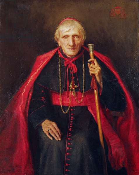 Portrait of John Henry Newman (1801-1890) 1889 (oil on canvas)