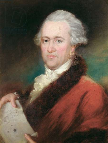 Portrait of Sir William Herschel (1738-1822) c.1795 (oil on panel)