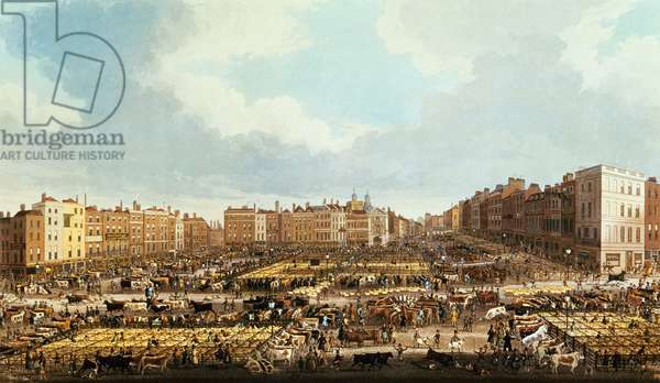 Smithfield Market, engraved by R.G. Reeve, pub. by Thomas McLean, 1831 (engraving)