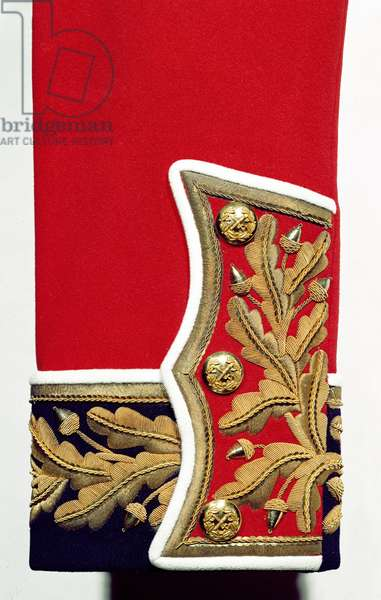 Sleeve detail of a British Army Uniform (textile)