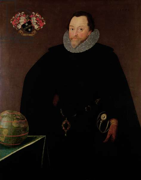 Portrait of Sir Francis Drake (1540-1596) 1591 (oil on panel)