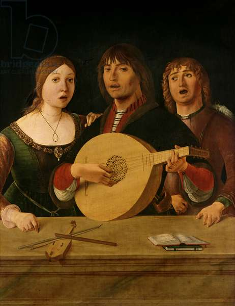 A Concert (oil on panel)
