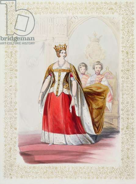 Portrait of Queen Victoria (colour litho)